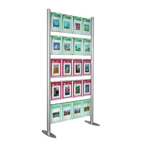 PF3A: Free-Standing upright aluminium 'ladders' with hook-over poster holders