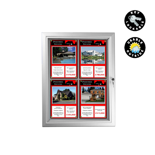 PW8: External lockable pinboard and magnetic cases to suit multi-A4