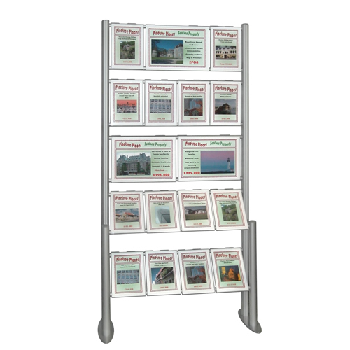 PF3C: Free-Standing combi aluminium 'ladders' with hook-over poster holders