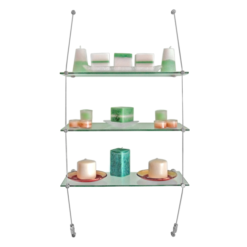 Suspended Glass Shelves In Kitchens: VW2: Wall Suspended Glass Shelving