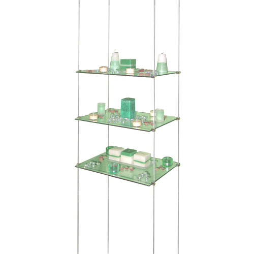 VS1: Suspended glass shelving (clamped)