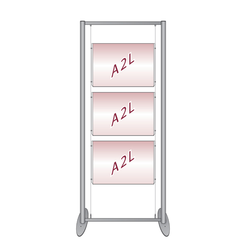 pf1 free standing poster display frame with suspended poster holders. Black Bedroom Furniture Sets. Home Design Ideas